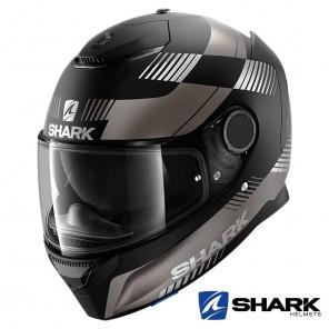 Casco Moto Integrale Shark SPARTAN Strad Mat - Nero Antracite Argento