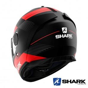 Casco Shark SPARTAN Strad Mat - Nero Rosso Antracite