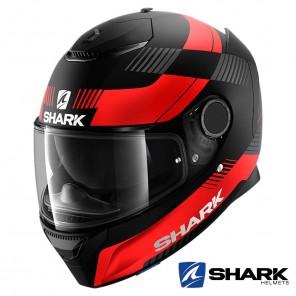 Casco Moto Integrale Shark SPARTAN Strad Mat - Nero Rosso Antracite