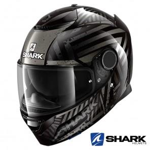 Casco Moto Integrale Shark SPARTAN Kobrak - Nero Antracite