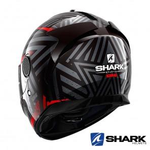 Casco Shark SPARTAN Kobrak - Nero Rosso
