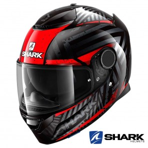 Casco Moto Integrale Shark SPARTAN Kobrak - Nero Rosso