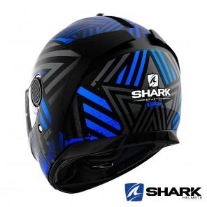 Casco Shark SPARTAN Kobrak Mat - Nero Blu