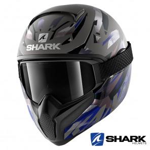 Casco Integrale Shark VANCORE 2 Kanhji Mat - Antracite Nero Blu