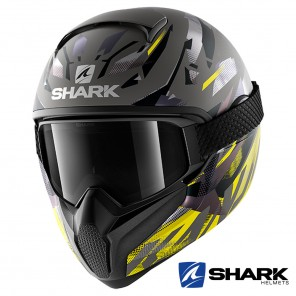 Casco Integrale Shark VANCORE 2 Kanhji Mat - Antracite Giallo Nero