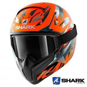 Casco Integrale Shark VANCORE 2 Kanhji Hi-Vis Mat - Arancione Antracite