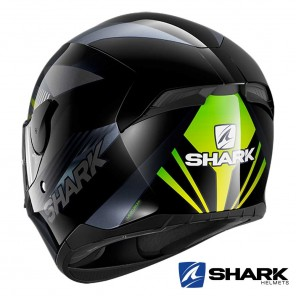 Casco Shark D-SKWAL 2 Mercurium - Nero Antracite Verde