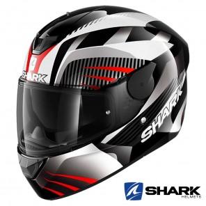 Casco Moto Integrale Shark D-SKWAL 2 Mercurium - Nero Bianco Rosso