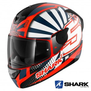 Casco Moto Integrale Shark D-SKWAL 2 Zarco 2019 Mat - Arancione Bianco Blu