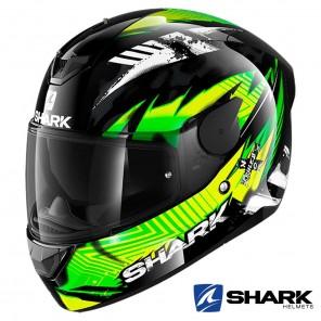 Casco Integrale Shark D-SKWAL 2 Penxa - Nero Verde Giallo