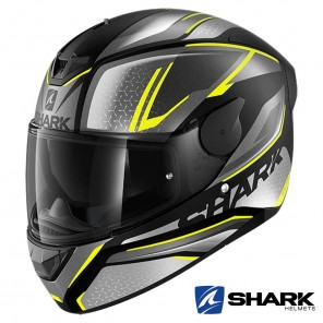 Casco Integrale Shark D-SKWAL 2 Daven Mat - Nero Antracite Giallo