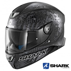 Casco Integrale Shark SKWAL 2 Switch Riders 2 Mat - Nero Antracite Argento