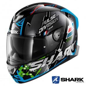 Casco Moto Integrale Shark SKWAL 2 Noxxys - Nero Blu Verde