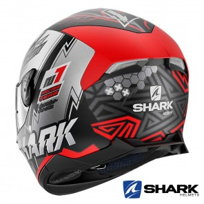 Casco Shark SKWAL 2 Noxxys Mat - Nero Rosso Argento