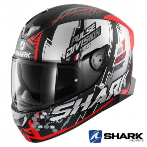 Casco Moto Integrale Shark SKWAL 2 Noxxys Mat - Nero Rosso Argento