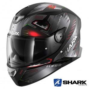 Casco Moto Integrale Shark SKWAL 2 Venger Mat - Nero Antracite Rosso