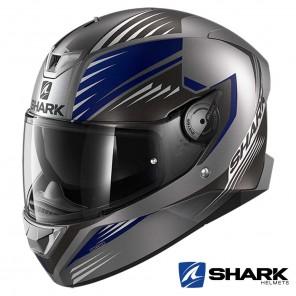 Casco Integrale Shark SKWAL 2 Hallder Mat - Antracite Blu