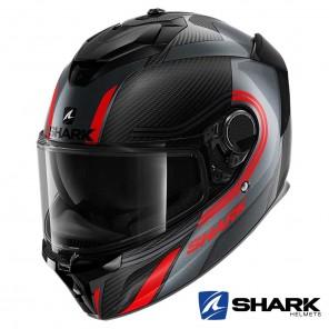 Casco Integrale Shark SPARTAN GT CARBON Tracker - Carbonio Antracite Rosso