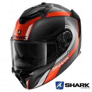 Casco Integrale Shark SPARTAN GT CARBON Tracker - Carbonio Antracite Bianco