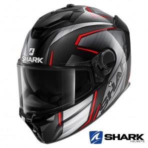 Casco Integrale Shark SPARTAN GT CARBON Kromium - Carbonio Rosso Cromo