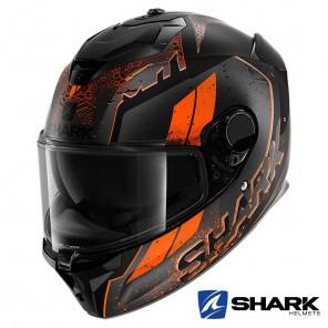 Casco Integrale Shark SPARTAN GT Ryser Mat - Nero Antracite Arancione
