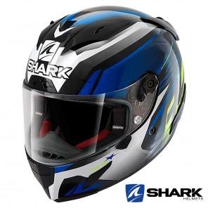 Casco Moto Integrale Shark RACE-R PRO ASPY - Nero Blu Giallo
