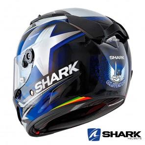 Casco Shark RACE-R PRO Replica Oliveira 2019 - Nero Blu Bianco
