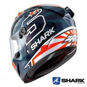 Casco Shark RACE-R PRO Replica Zarco 2019 - Blu Bianco Arancione