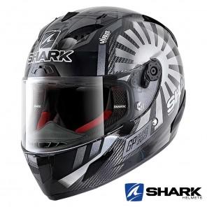 Casco Integrale Shark RACE-R PRO CARBON Replica Zarco GP France 2019 - Nero Cromo Antracite