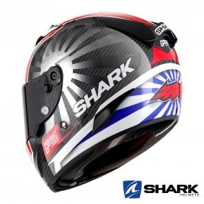 Shark Casco RACE-R PRO CARBON Replica Zarco GP France 2019 - Nero Cromo Rosso