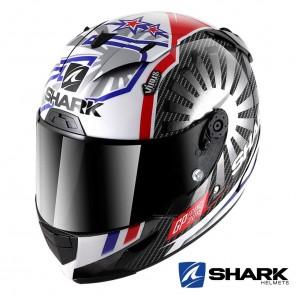 Casco Integrale Shark RACE-R PRO CARBON Replica Zarco GP France 2019 - Nero Cromo Rosso