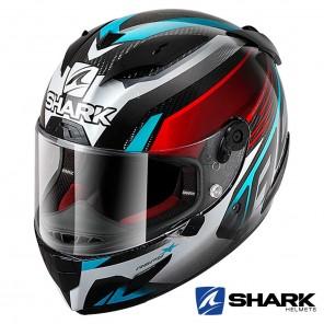Casco Moto Integrale Shark RACE-R PRO CARBON ASPY - Nero Rosso Blu