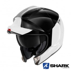 Casco Shark EVOJET Dual Blank - Bianco Nero