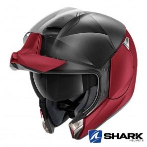 Casco Shark EVOJET Dual Blank Mat - Rosso Antracite