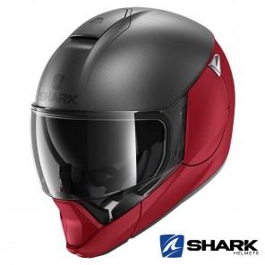 Casco Apribile Shark EVOJET Dual Blank Mat - Rosso Antracite