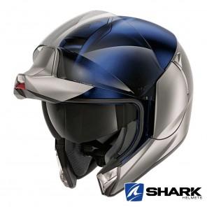 Casco Shark EVOJET Dual Blank Mat - Argento Blu