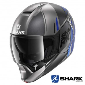 Casco Apribile Shark EVOJET Vyda Mat - Antracite Blu Nero