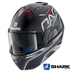 Casco Apribile Shark EVO-ONE 2 Keenser Mat - Nero Argento Rosso