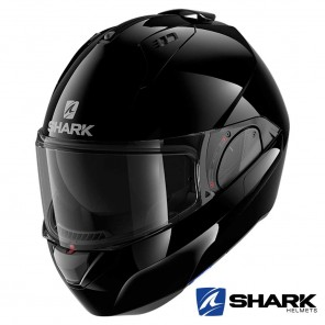 Casco Moto Apribile Shark EVO-ES Blank - Nero