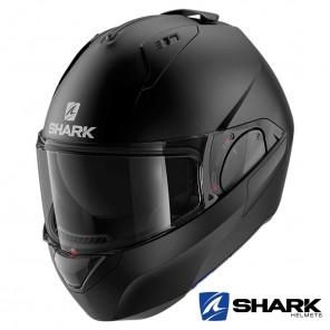 Casco Moto Apribile Shark EVO-ES Blank Mat - Nero