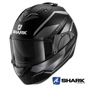 Casco Moto Apribile Shark EVO-ES Yari Mat - Nero Antracite
