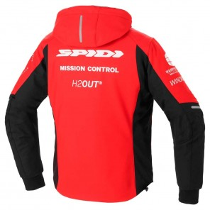 Giacca Spidi HOODIE ARMOR H2OUT - Rosso