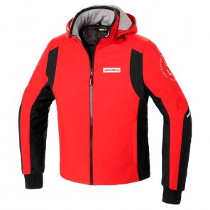 Giacca Moto Spidi HOODIE ARMOR H2OUT - Rosso