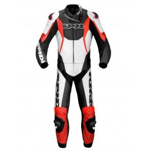 Tuta Divisibile Pelle Moto Spidi SPORT WARRIOR TOUR - Nero Rosso