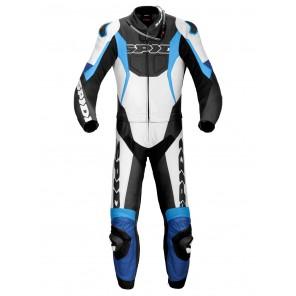 Tuta Divisibile Pelle Moto Spidi SPORT WARRIOR TOUR - Bianco Blu