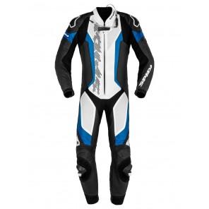 Tuta Pelle Moto Spidi LASER PRO PERFORATED - Nero Blu