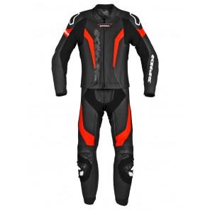 Tuta Divisibile Pelle Moto Spidi LASER TOURING - Nero Rosso