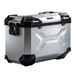Valigia Laterale Sinistra Alluminio SW-MOTECH TRAX ADV L - 45 Litri - Argento