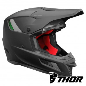 Casco Motocross Thor REFLEX BLACKOUT - Nero