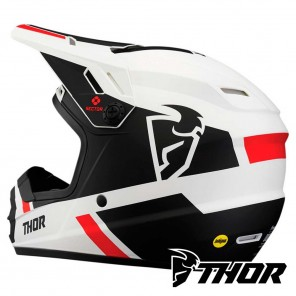 Casco Thor Youth SECTOR SPLIT - Bianco Nero
